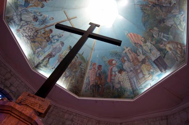 the Magellan's Cross in Cebu, Central Visayas, Philippines stock photo
