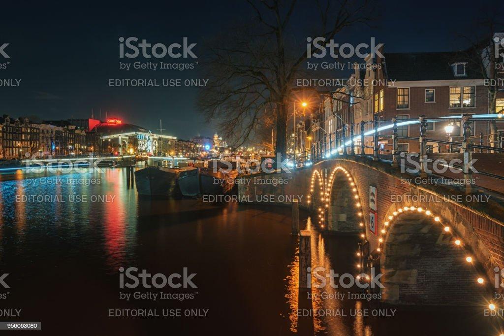 Le pont Magere au-dessus de la rivière Amstel à Amsterdam - Photo