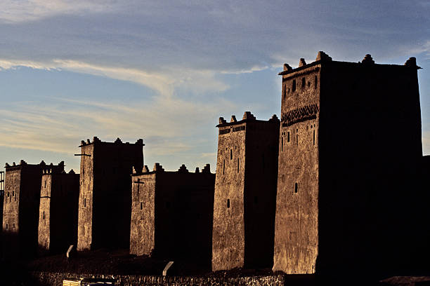 The Maghreb towers stock photo