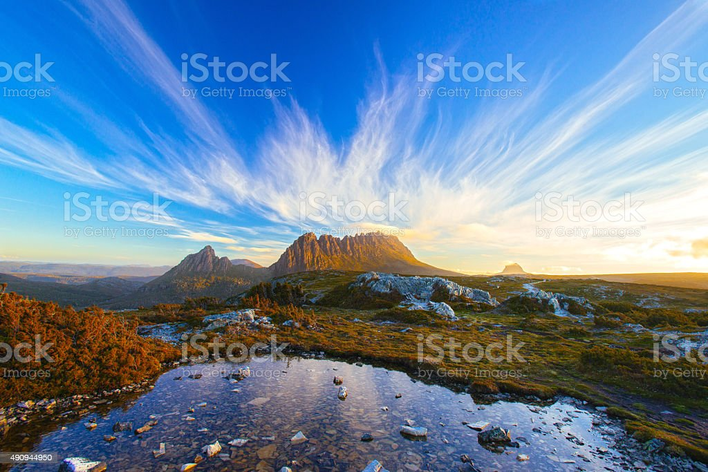 The Magic Cradle Mountain stock photo