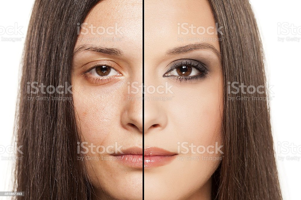 the magic of makeup stock photo