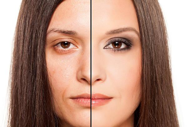 the magic of makeup stock photo