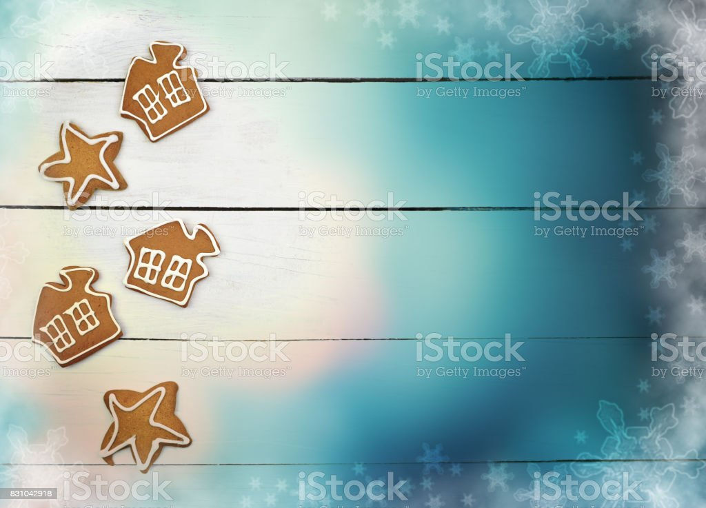 The magic of winter holidays. Homeliness. stock photo