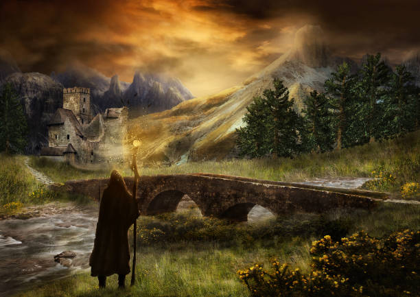 The Magician Fantasy Landschaft fantasy stock pictures, royalty-free photos & images