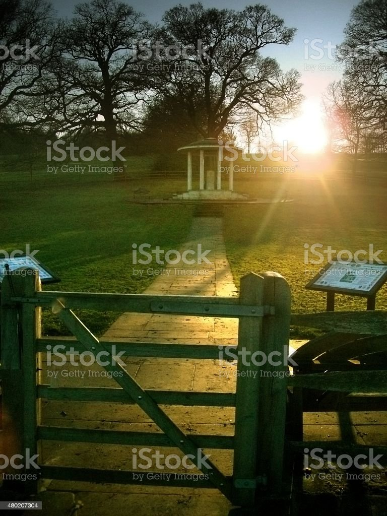 The Magna Carta Memorial at Runnymede stock photo