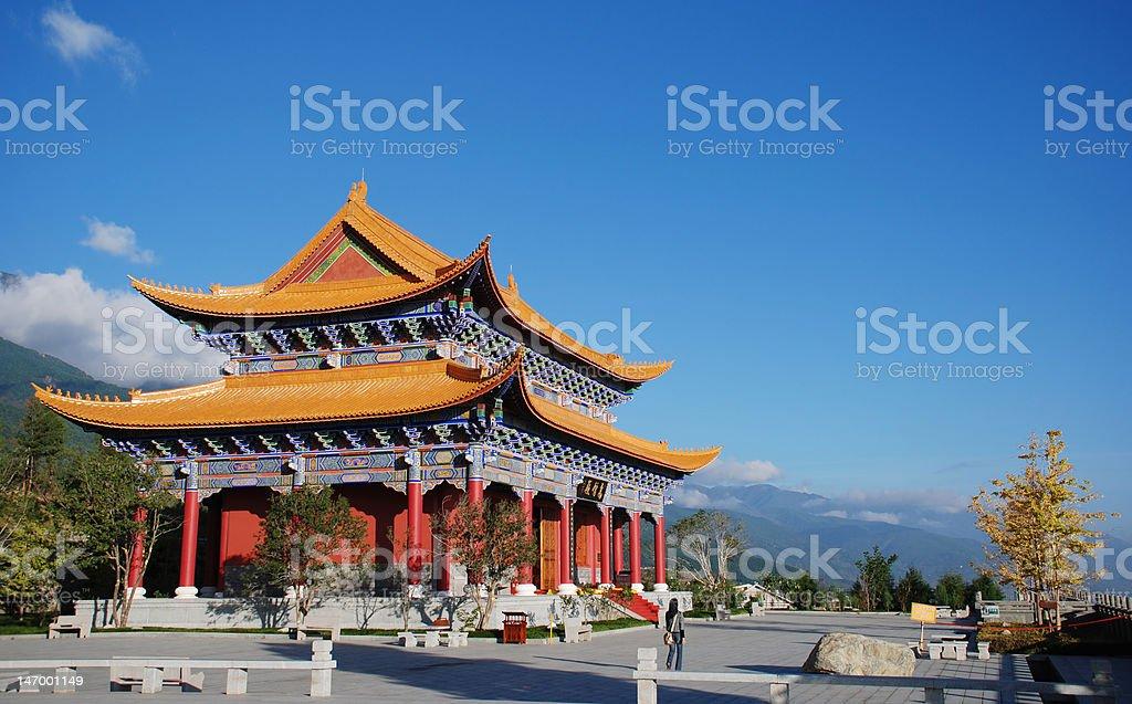 The magnificent Buddhist temple in Dali stock photo