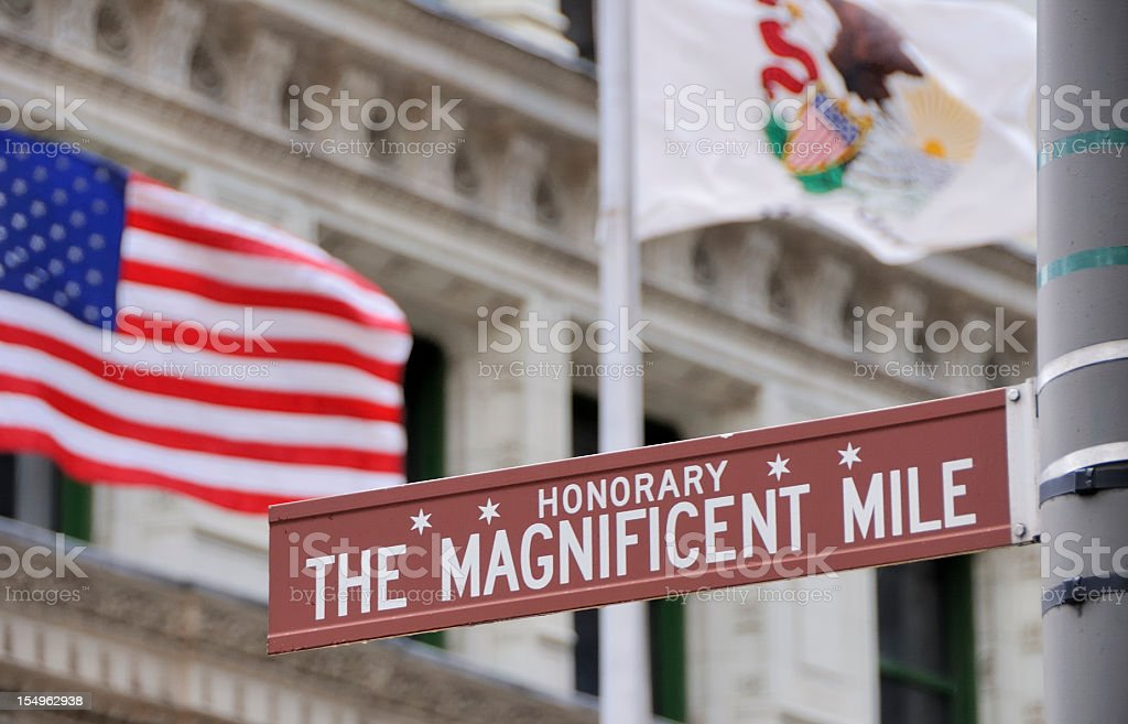 The Magnificent Mile, Chicago stock photo