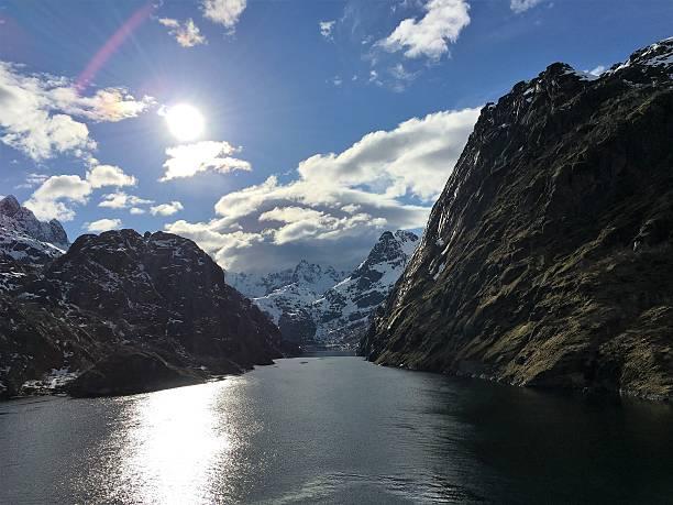 The magnificent Trollfjorden in Lofoten, Norway. – Foto