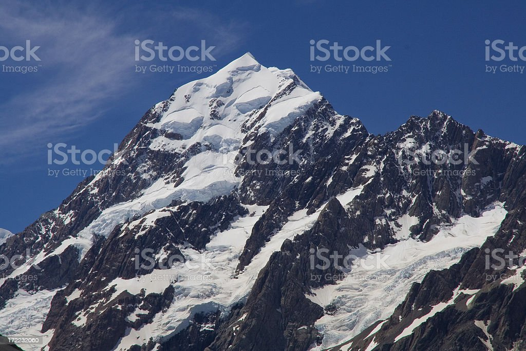 The magnificient Mt. Cook (3754m) royalty-free stock photo