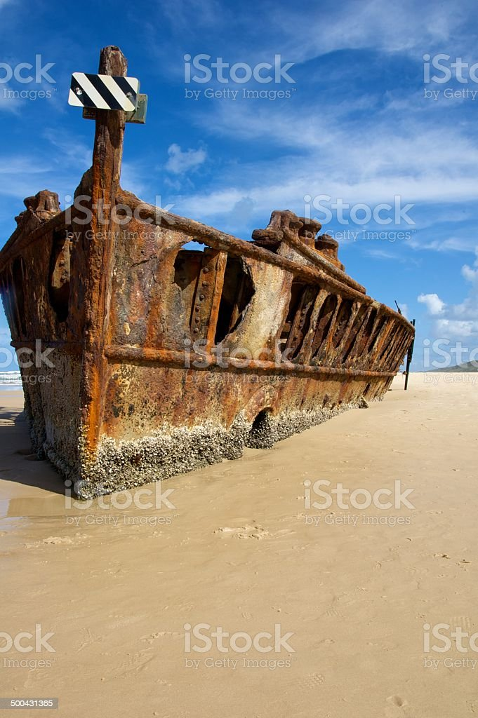The Maheno Wreck royalty-free stock photo