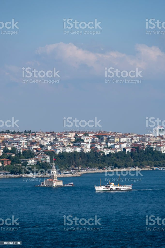 The maiden's tower in Istanbul, Turkey stock photo