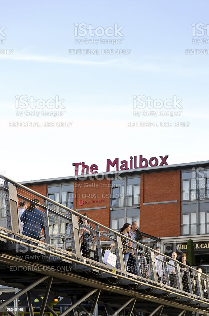The Mailbox, Birmingham, West Midlands royalty-free stock photo