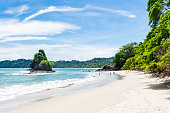 Beautiful white sandy beach in Costa Rica.
