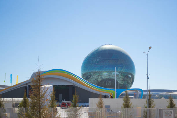The main building of the Expo 2017 in Astana stock photo