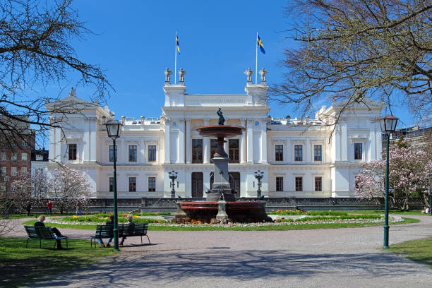 the main building of the lund university, sweden - lund stock photos and pictures