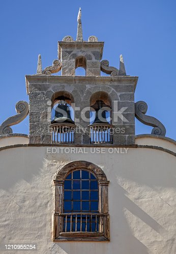 Iglesia De San Antonio Abad, Arona, Tenerife, Spain, February 3, 2020: The main church in the city of Arona is – from the outside – a very modest building