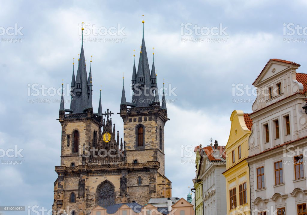 The main Church of Our Lady before Tyn in Prague royalty-free stock photo