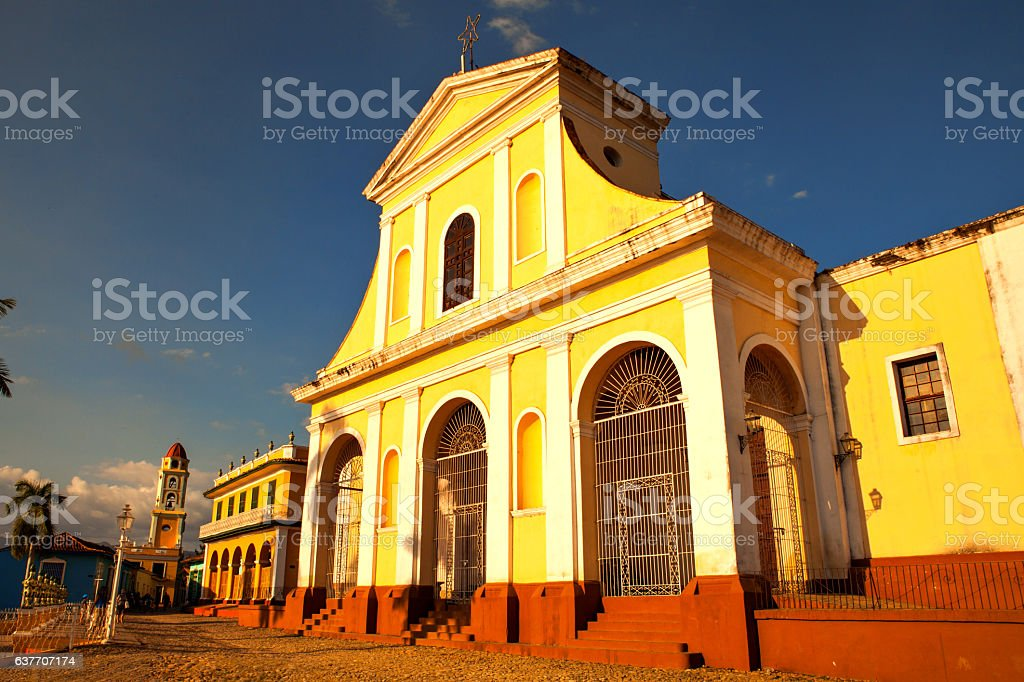 The main church of the UNESCO World Heritage old town stock photo
