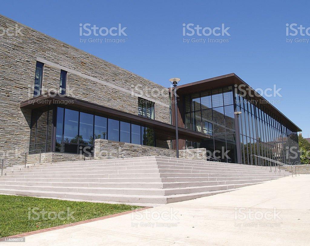 The main facade of Lafayette College  stock photo