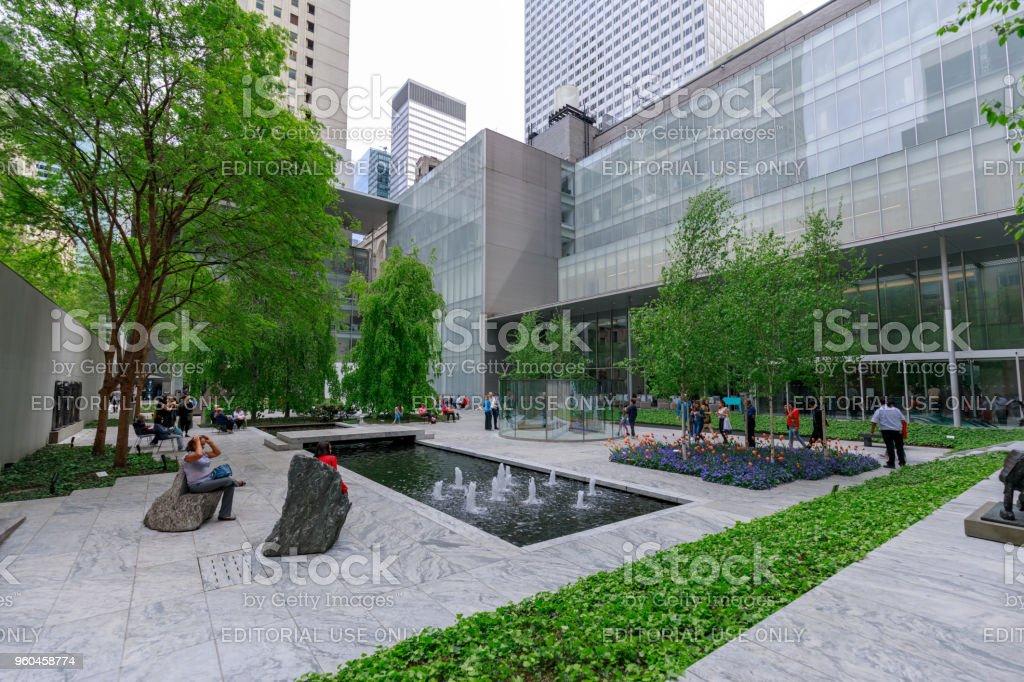 The Main Garden Of Moma Museum Of Modern Art In Manhattan Nyc Stock ...