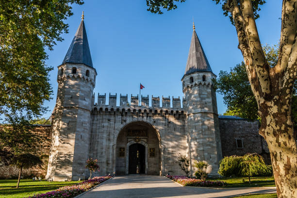 The main gate to the Topkapi Palace, Istanbul stock photo