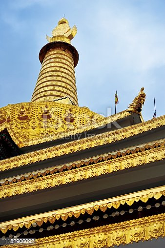 the main hall of Dongga lamasery, Seda county, Sichuan province, China.