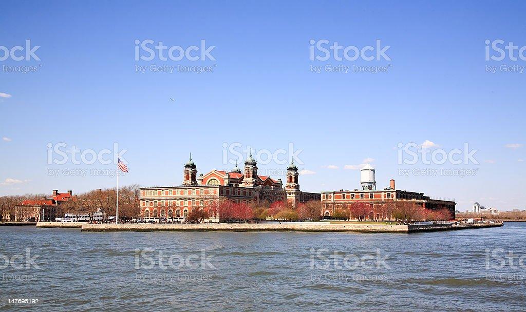 The main immigration building on Ellis Island stock photo