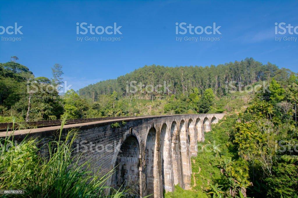 The Main Line Rail Road In Sri Lanka stock photo