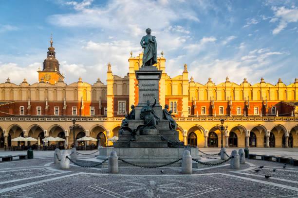 The Main Market Square of Krakow, Poland stock photo
