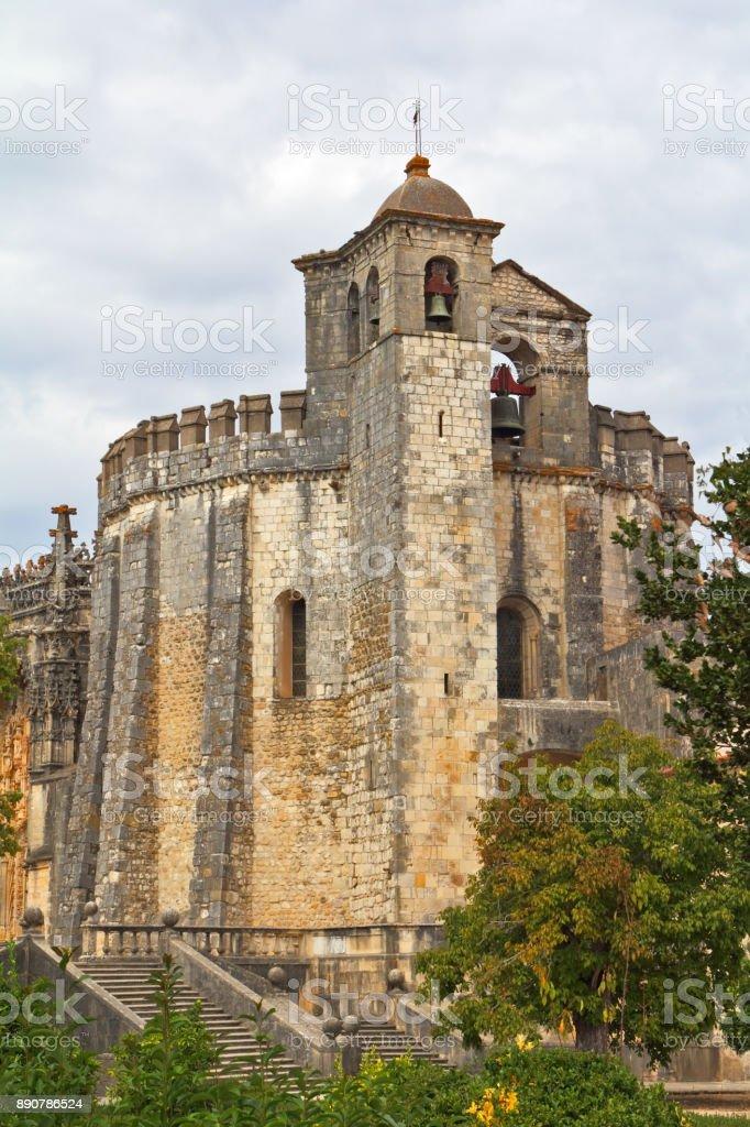 The main portal of the monastery Templar stock photo