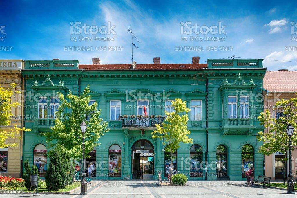 the main square in Sombor stock photo