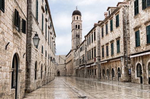 The main street located in the town of Dubrovnik, Croatia