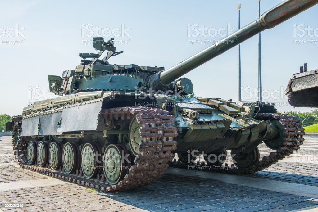 The main tank T-64 of Ukrainian army. Established in the early 1960 's in the Kharkiv Morozov Design Bureau stock photo