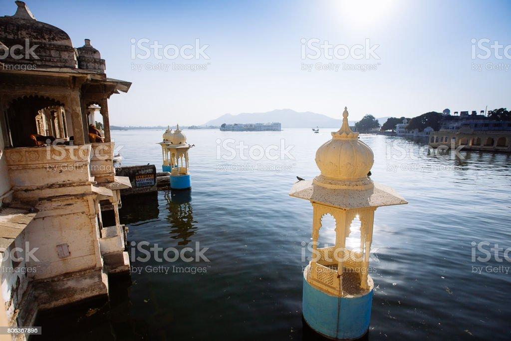 Die majestätischen Pichola-See, Reiseziel in Rajasthan, Udaipur City, Indien – Foto