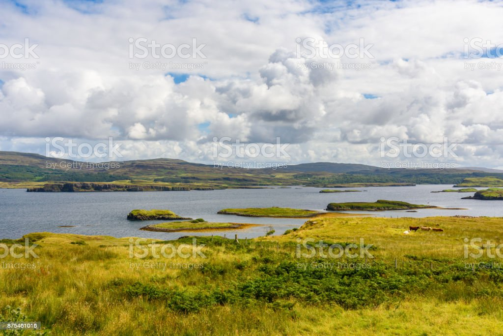 The majestic nature of the Isle of Skye in Scotland, UK stock photo