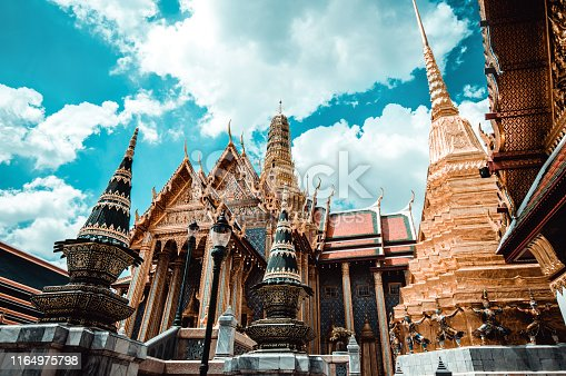 The Majestic Temple Of The Emerald Buddha In Bangkok, Thailand