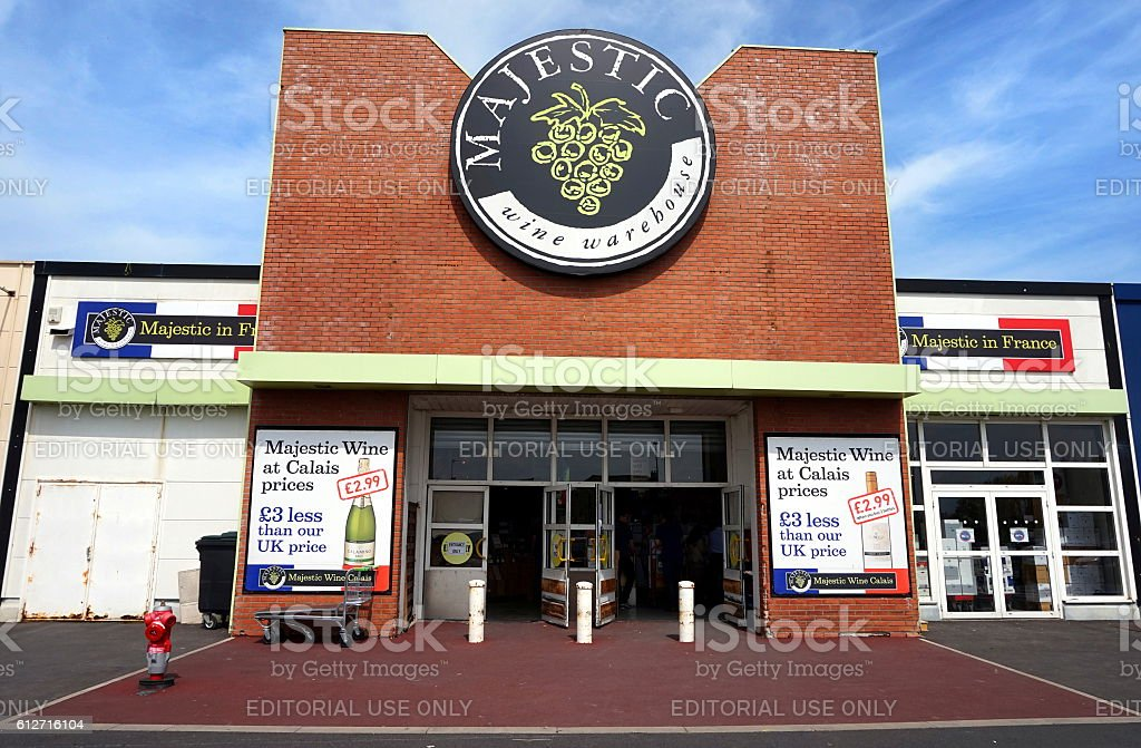 The Majestic wine warehouse store in Calais, France stock photo