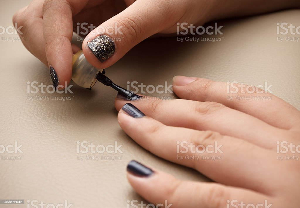 The Making Of Nail Art Stock Photo More Pictures Of 2015 Istock