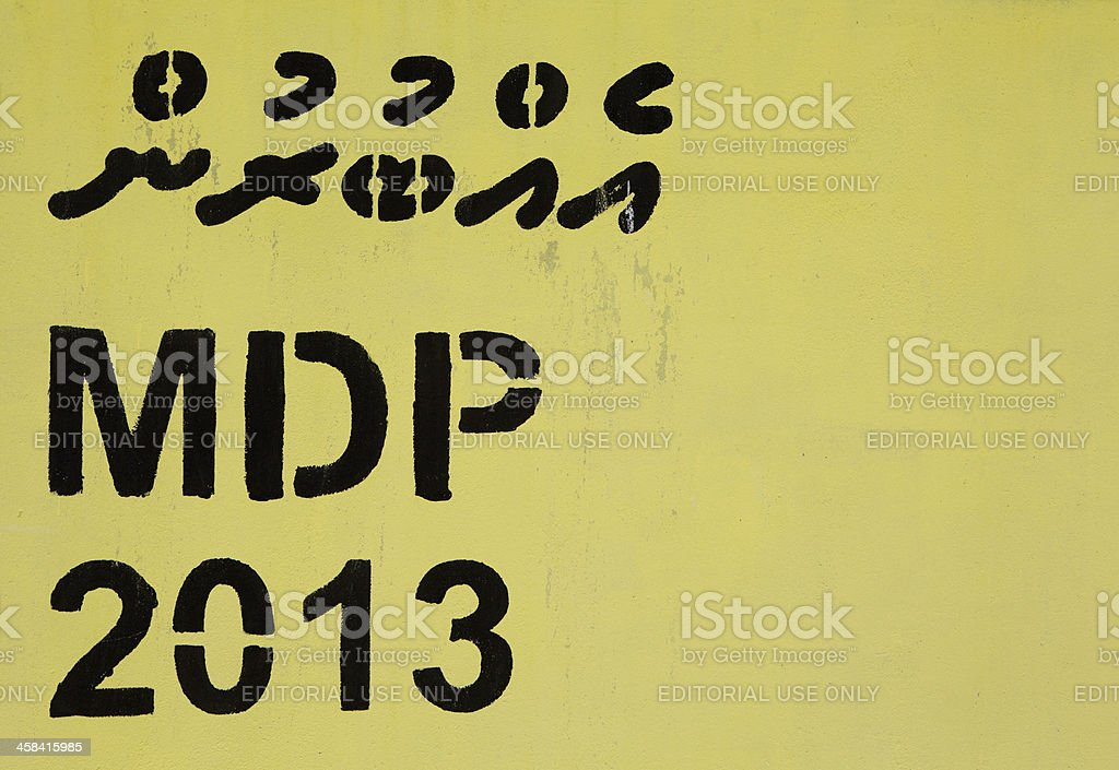 The Maldives Islands Presidential Election 2013 royalty-free stock photo