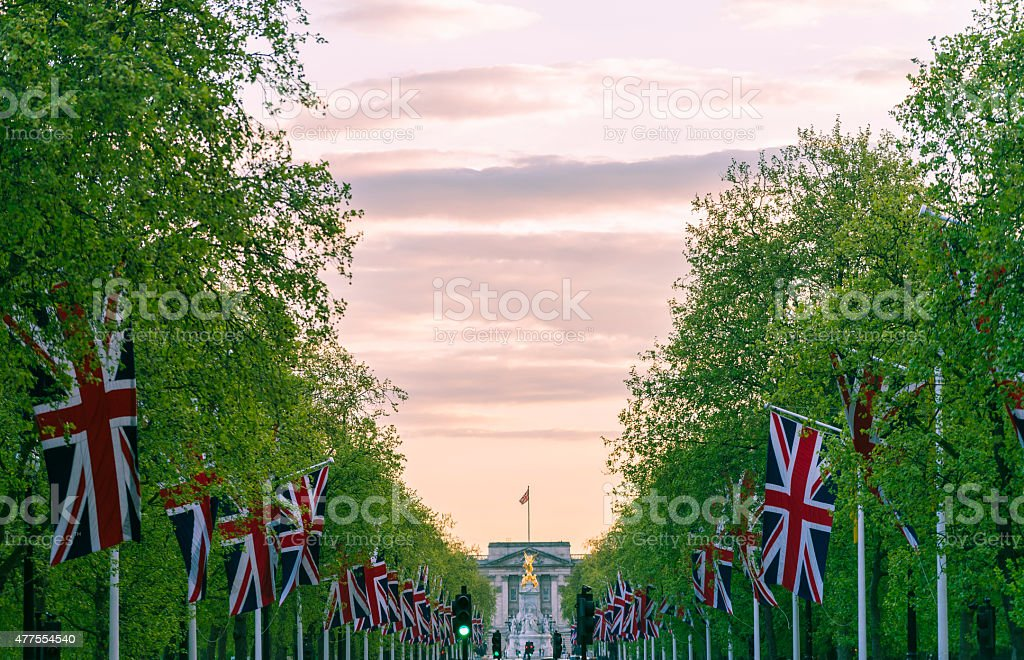 The Mall flags stock photo