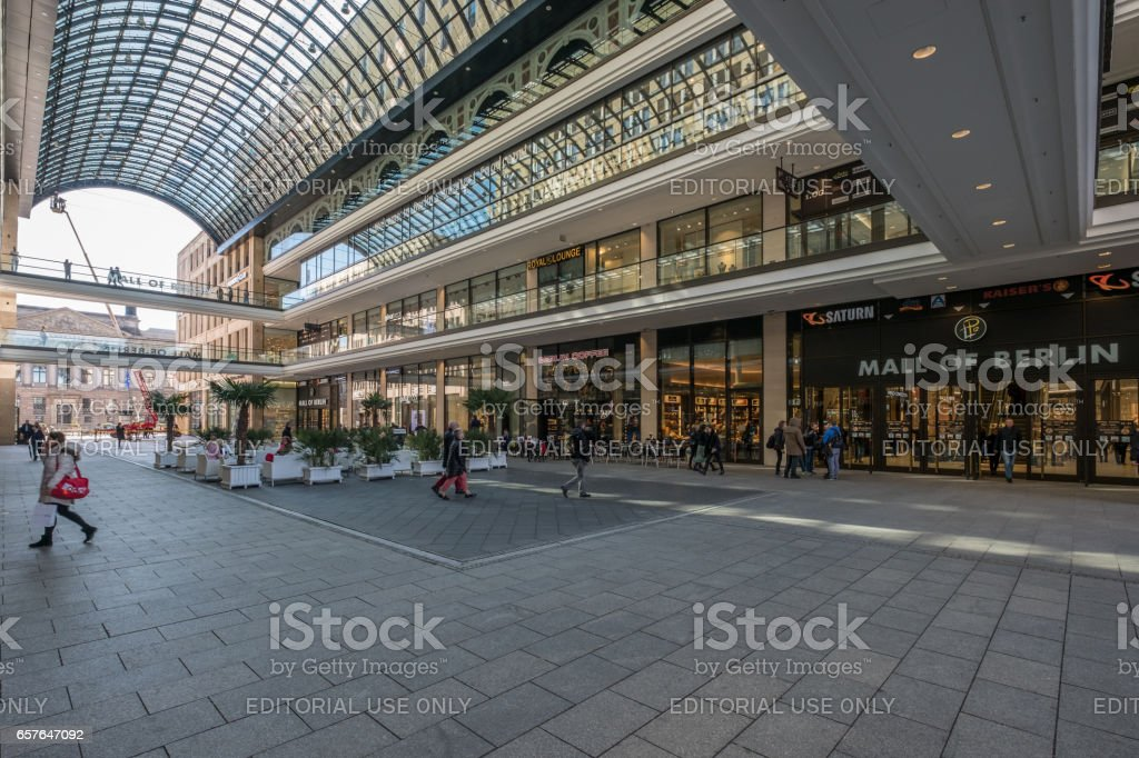 The Mall of Berlin stock photo