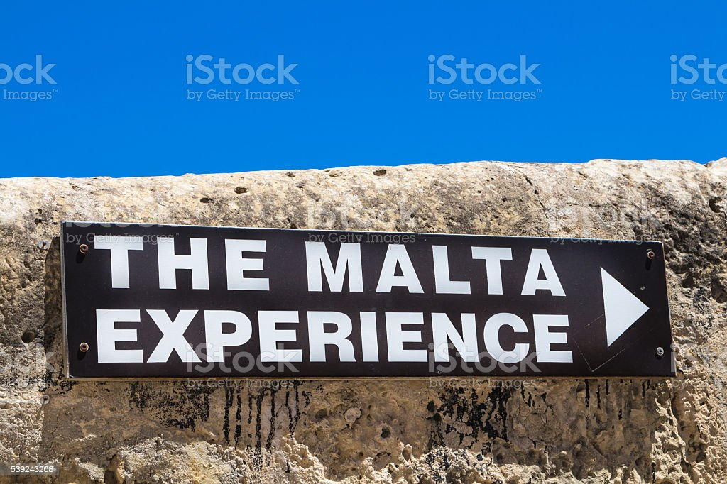 The Malta Experience board, island Malta royalty-free stock photo