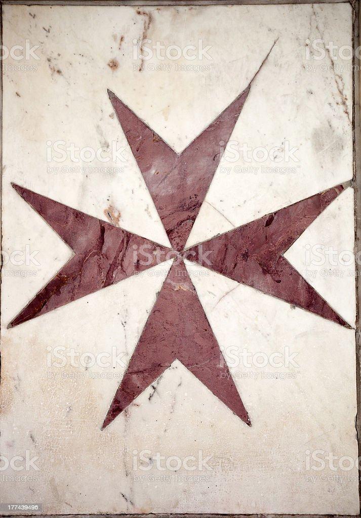 The Maltese Cross stock photo