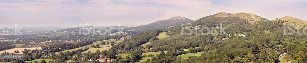 The Malvern Hills in Summer royalty-free stock photo