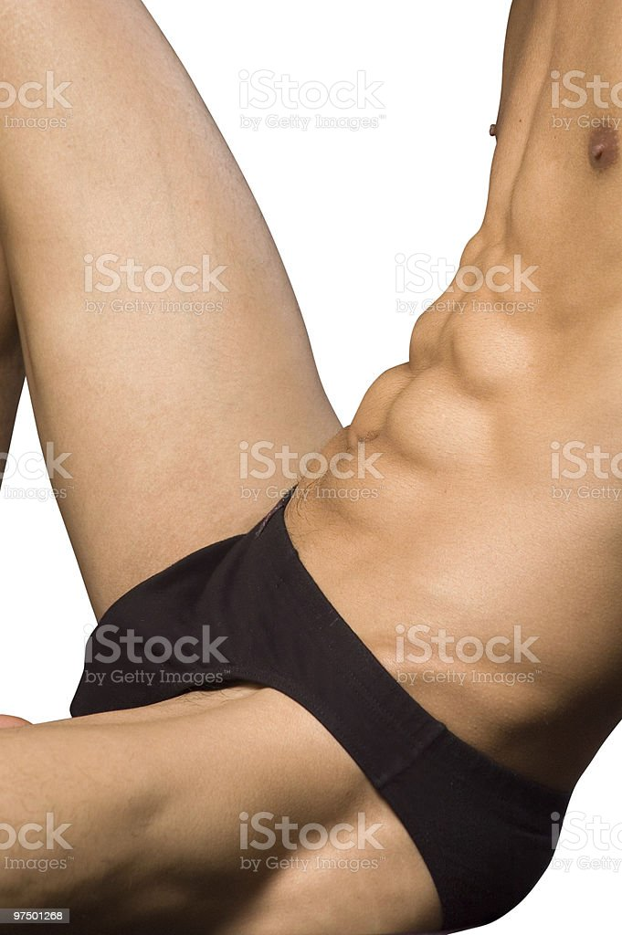 The man in swimming trunks royalty-free stock photo