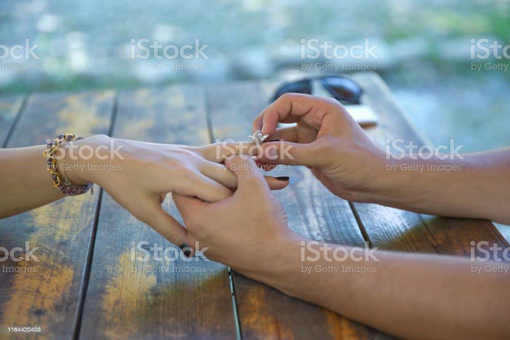 Junges Mädchen Fingern Mann Ein erfahrener