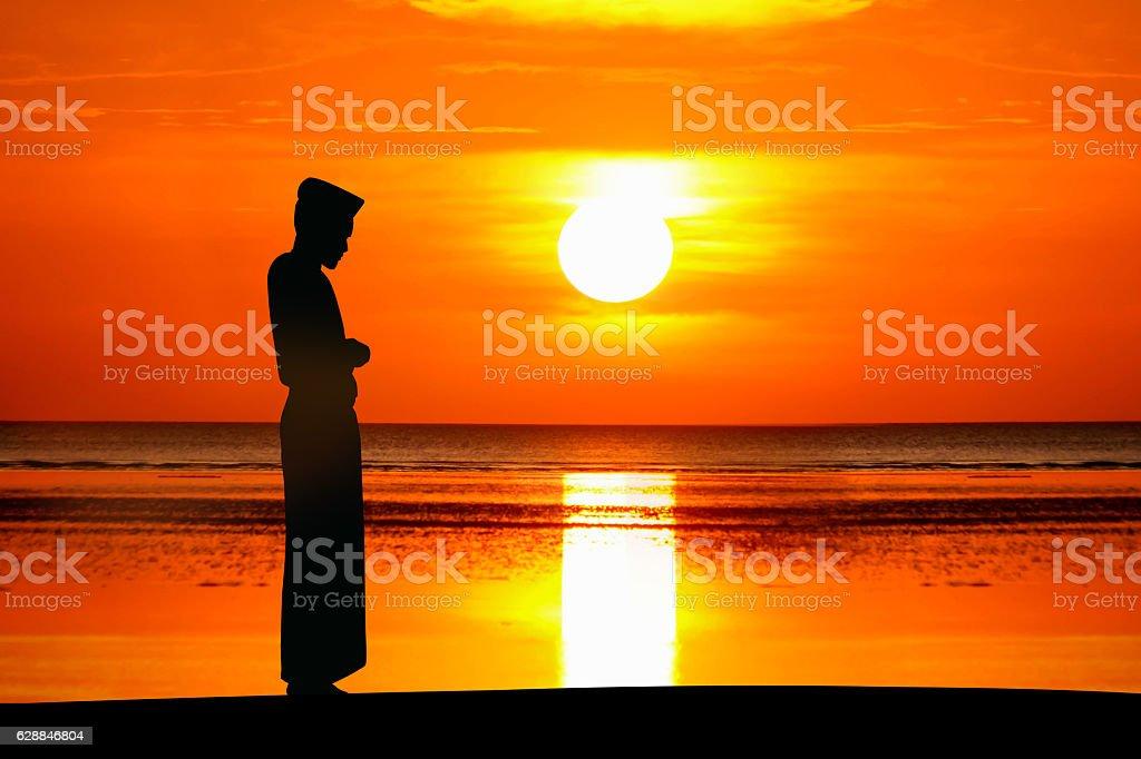 the man praying stock photo