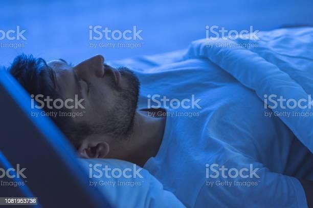 The man sleeping in the bed night time picture id1081953736?b=1&k=6&m=1081953736&s=612x612&h=m1hv6jmpobkpem zc0ockzrfzd0uj4mfthgkyi4rrtg=