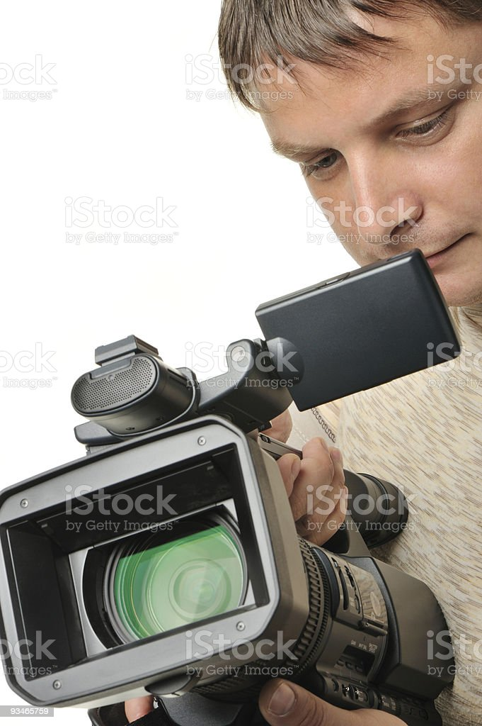 The man with a videocamera royalty-free stock photo