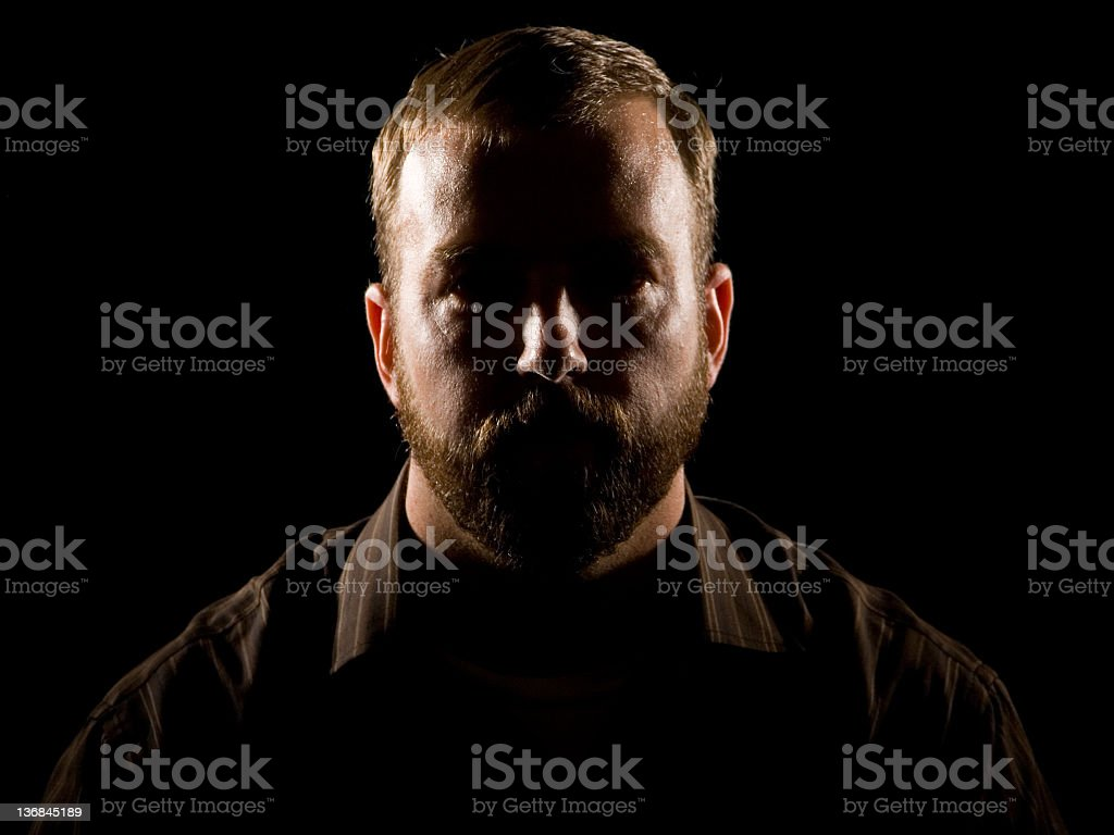 The Man with No Eyes royalty-free stock photo